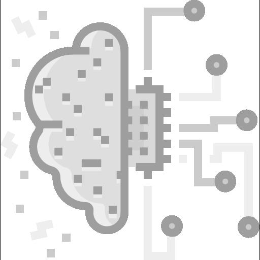 Eine mit einem Gehirn verbundene CPU