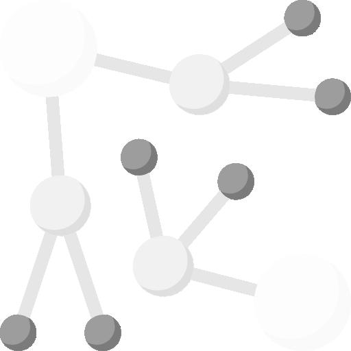 Verknüpfte Kreise mit unterschiedlicher Größe