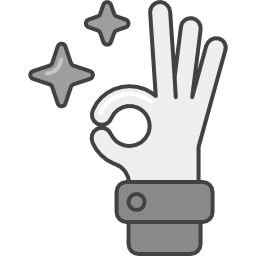 Hand, die OK signalisiert