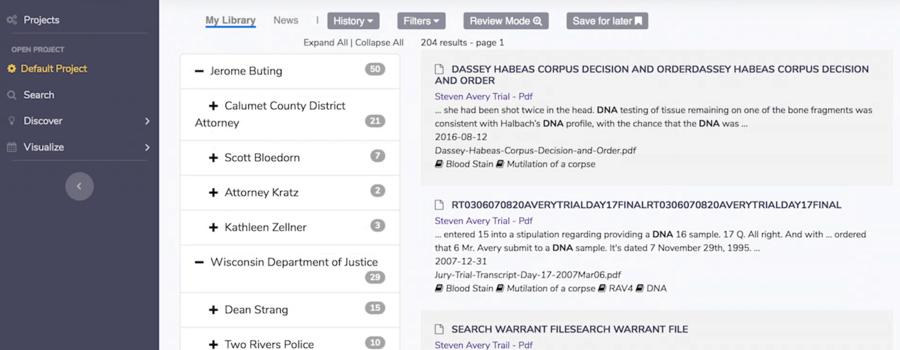 Screenshot aus der KI-Software von Agnes